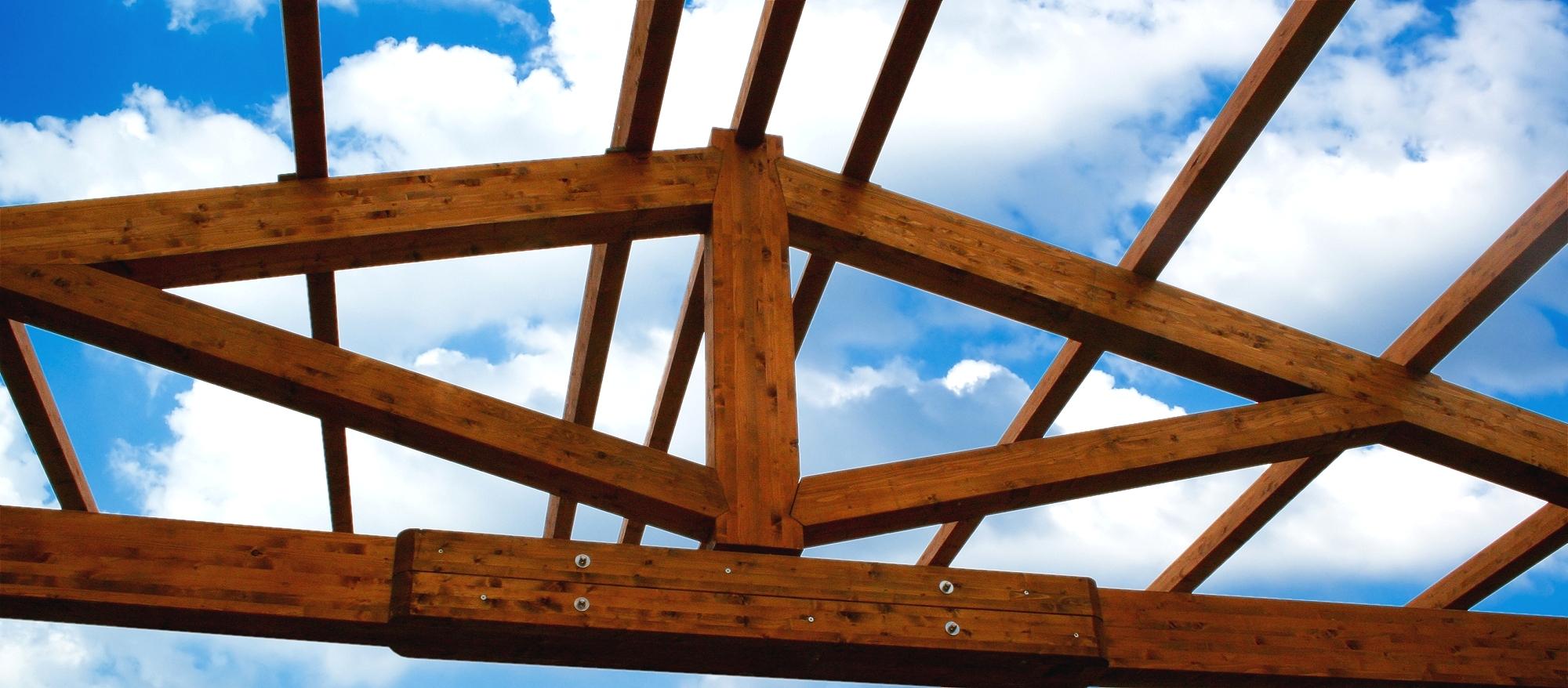 strutture e coperture in legno lamellare tetti in legno case e casette prefabbricate box auto ...